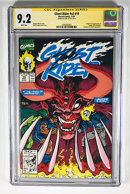 Ghost Rider v2 19 CGC 9.2 signed by Stan Lee Marvel 11/91