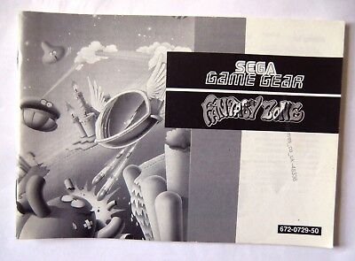 48336 Instruction Booklet - Fantasy Zone - Sega Game Gear () 672-0729-50