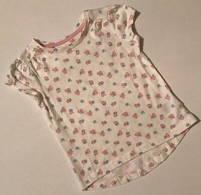 Mothercare Baby Girls Cream Top 18-24 Months Short Sleeve