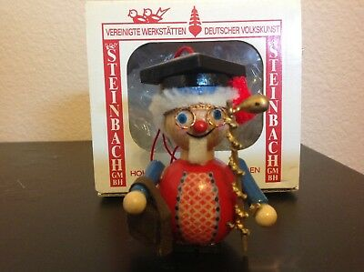 Steinbach Wooden Christmas Ornament. Handmade in Germany ~PROFESSOR/SCHOLAR