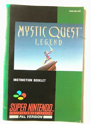 51331 Instruction Booklet - Mystic Quest Legend - Nintendo SNES (1993) SNSP-MQ-U