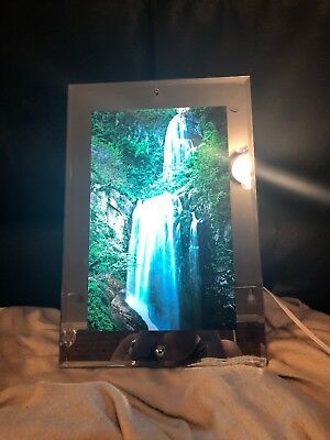 Vintage Moving Lighted Waterfall Motion Picture