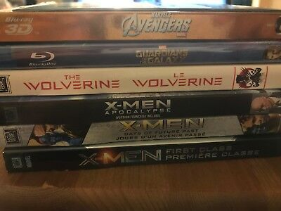 Marvel Blu-ray Movies X-Men Wolverine Avengers Guardians of the Galaxy