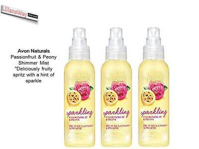Avon Naturals Passionfruit & Peony Scented Shimmer Mist~(Body Spray) New