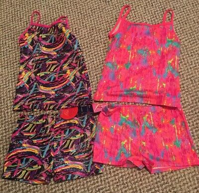 Girls 10/12 Lot Of 2 Freestyle By Danskin Dance/workout Outfits