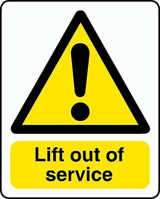 2 X Lift Out Of Service Stickers Signs