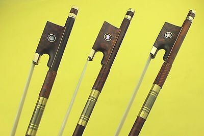 3pcs New Snakewood violin bows 4/4 full size beautiful pattern high quality