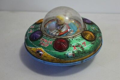 Vintage 1950 /60's Space Ship X-7 Tin Toy , Modern Toys , Made in Japan