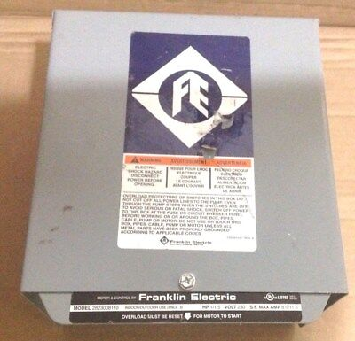 Franklin Electric 1/1.5 Hp Control Box Well Pump Controller  230V   8.0/11.5A