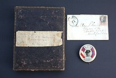 1/2 Plate Confederate Civil War Doctor 1860 From NC General William A Smith Pin