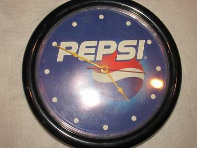 Vintage Round Pepsi Wall Clock quartz logo Working VGUC