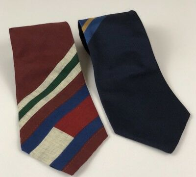 LOT OF 2 TOMMY HILFIGER Mens Neck Ties 100% Italian Silk
