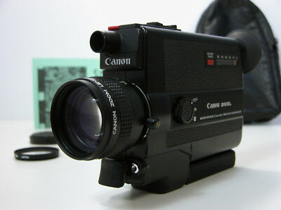 Beautiful & Working CANON Super 8 MOVIE CAMERA W/Inst Great Film Student Camera