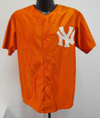 302bd866e ... discount code for new york yankees medium jersey orange majestic stitch  mens mlb baseball vintage f7261