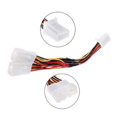 Y Cable 6+6 Plug Splitter Adapter for Audio Navi AUX CDC Tuning for Toyota Lexus