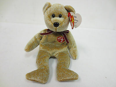 Beanie Baby 1999 Signature Bear Babies Collection Rare Collectors Ty Cute Toy