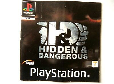 51859 Instruction Booklet - Hidden & Dangerous - Sony Playstation 1 (2001) S