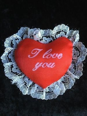 12 X Craft Puffy Hearts - I Love You - Red & White - Brandnew