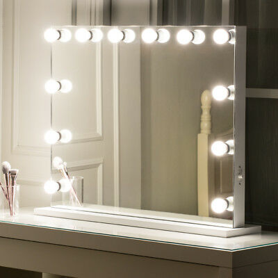 Large LED Hollywood Beauty Lighted Vanity Makeup Mirror with Dimmer Lights Bulb