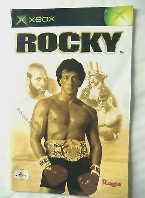 54553 Instruction Booklet - Rocky - Microsoft Xbox (2002)