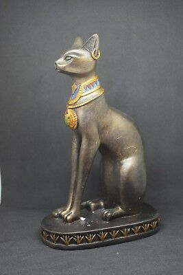 "6.5"" Egyptian Bastet Cat Statue. Ancient Egypt Goddess Bast Collectible"