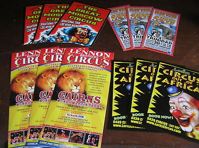 cairns circus flyers posters lennon loritz carnival RINGLING BROS BARNUM BAILey