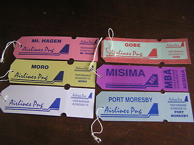6 air new guinea  luggage baggage bag tag airline airways first business amenity