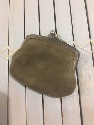 Antique Victorian ? Small Soft Leather Purse Coin COIN PURSE