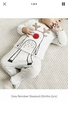 Baby Next Christmas Reindeer Outfit - Upto 1 Month