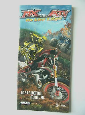 48696 Instruction Booklet - MX Vs. ATV On The Edge - Sony PSP (2006) ULES 00274