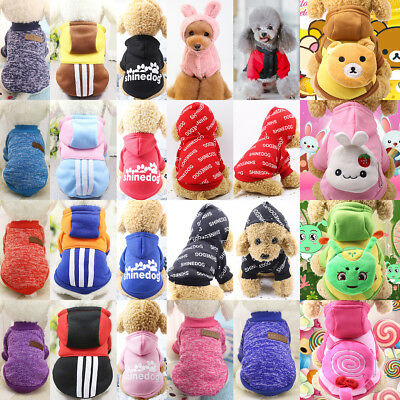 Puppy Cat Dog Winter Clothes Apparel Cute Pet Sweater Jumper Hoodie Coat Costume