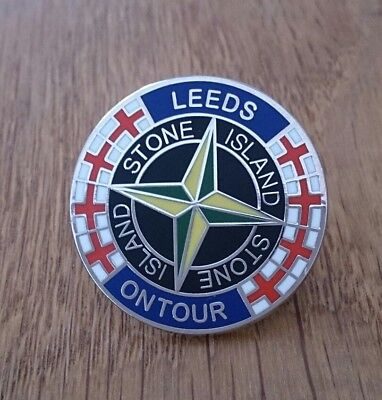 Leeds on tour  Stone Island novelty. Enamel Pin Badge NEW 80s Casuals