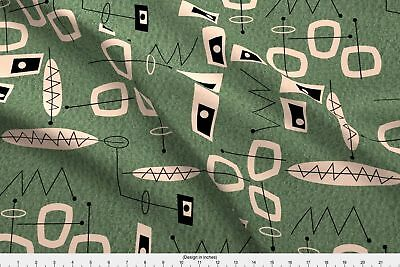 Atomic Era Inspired Mid-Century Modern Fabric Printed by Spoonflower BTY