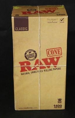 1400 Pack - RAW Classic Cones King Size Pre-Rolled Cones w/ Filter Lot of 12 PCS