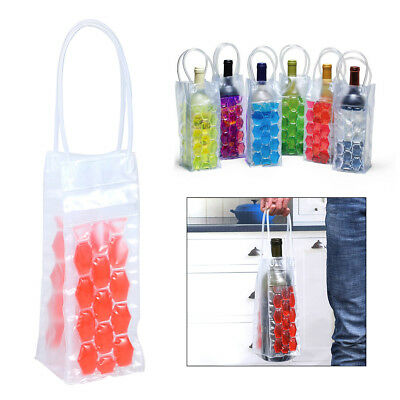 Wine Bottle Freezer Chill Cooler Ice Bag Carrier Beer Party Carrier Travel