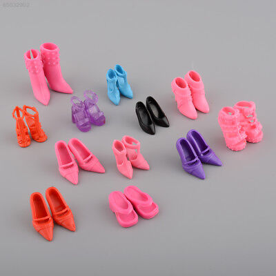 0237 Fashion Mix 24pcs/12Pairs Shoes Boots Barbie Doll Toy Girls Play House