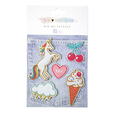 We Love Believe in Unicorn Patches Badges Gift Safety Pin Party Bag Prize