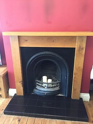 Solid Oak Fireplace And Iron Surround