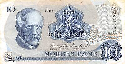 Norway  10  Kroner  1984  Series  CA  Circulated Banknote E12