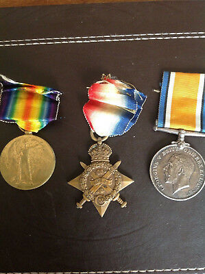 1914 Star and Bar Trio, Northumberland Fusiliers, Wounded 1914 Pte Taylor