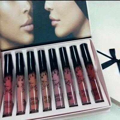 Coffret Noeud Kylie Cosmetics 8 Rouge A Levres Mats Lipstick Jenner matte gloss