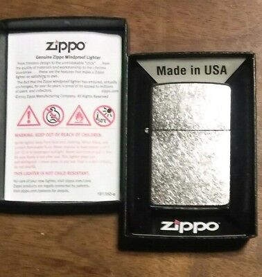 Zippo Street Chrome 207 All Metal Windproof lighter w Warranty Made In The USA