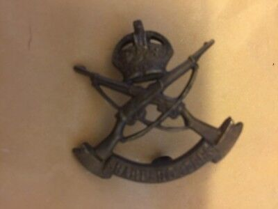 EXCELLENT ORIGINAL WW1 3rd COUNTY OF LONDON SHARP SHOOTERS  CAP BADGE