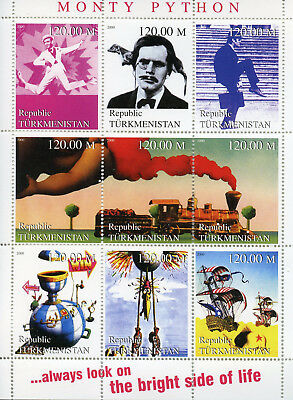 Turkmenistan 2000 MNH Monty Python Flying Circus John Cleese 9v M/S Stamps