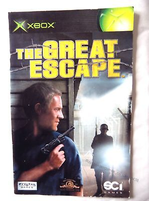 56438 Instruction Booklet - The Great Escape - Microsoft Xbox (2003)