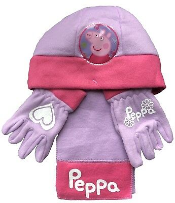 Peppa Pig Hat, Gloves and Scarf Set 3 - 5 Years