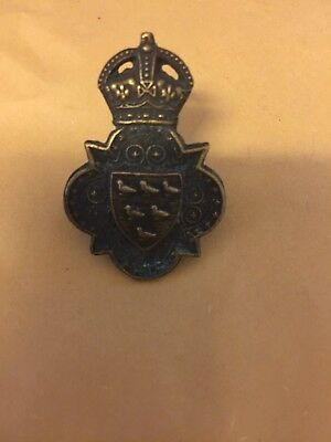 Excellent Original Ww1 Sussex Yeomanry  Cap Badge