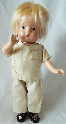 """1931 Effanbee 10"""" composition PATSYETTE Doctor Doll – Rare Original Outfit"""