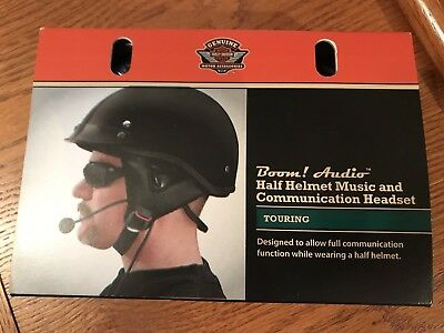 Harley-Davidson Boom! Audio Half Helmet Music and Communication Headset 76572-09