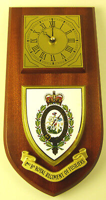2Nd Bn Royal Regiment Of Fusiliers Classic Hand Made To Order Wall Clock